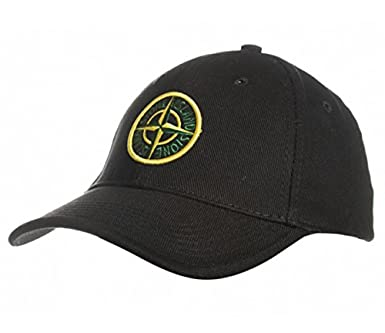 3ccb772c1ec Stone Island Large Compass Logo Baseball Cap in Black (Large ...