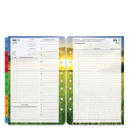 FranklinCovey Classic Seasons Ring-bound Daily Planner - Jul 2015 - Jun 2016