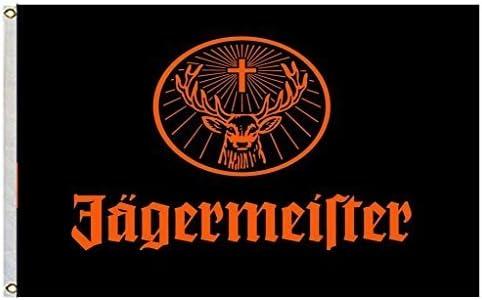Amazon.com: Jagermeister gigante Negro Flying Bandera Banner ...