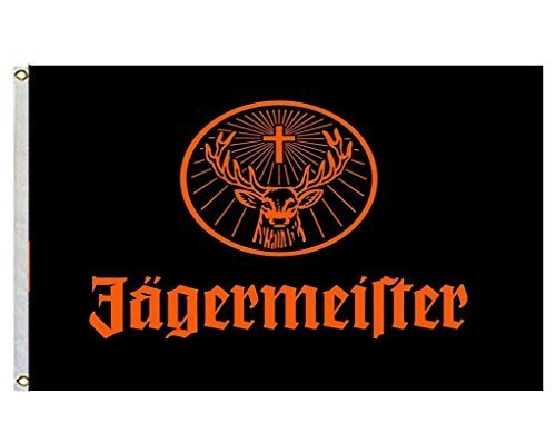 Jagermeister Giant Large Black Flying Flag Banner Size 3×5 Feet