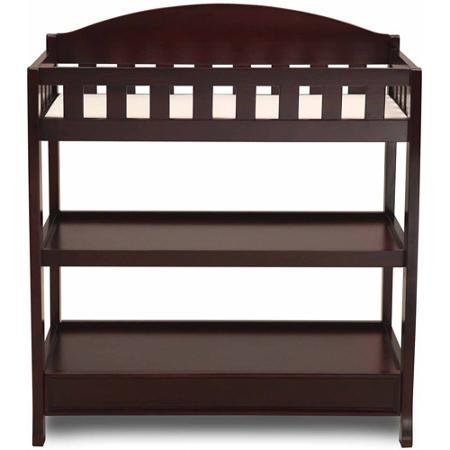 Delta Children's Changing Table with Pad, Espresso Cherry Finish by Delta Children's