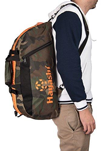 "Rucksack - Tasche HAYASHI Camouflage ""S"" small Orange Camou Camo TOP TEN"