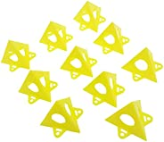 Somubi Yellow Cone Canvas and Cabinet Door Risers, Set of 10, Painters Pyramid, Acrylic and Epoxy Pouring Pain