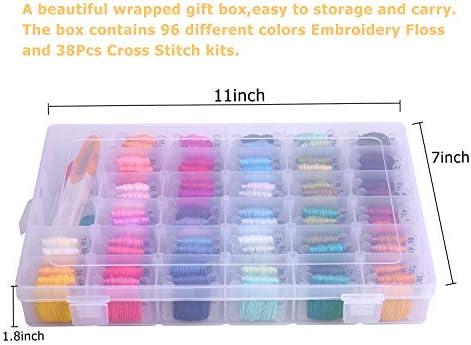 Arts, Crafts & Sewing Needlework 96 Colors Friendship Bracelets ...