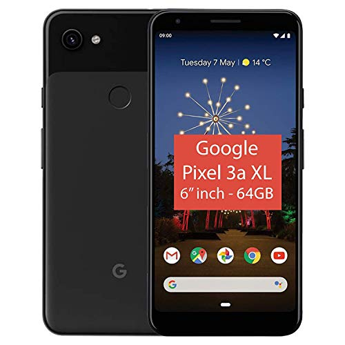 "Google Pixel 3a XL 15,2 cm (6"") 4 GB 64 GB 4G Negro 3700 mAh - Smartphone (15,2 cm (6""), 4 GB, 64 GB, 12,2 MP, Android 9.0, Negro)"
