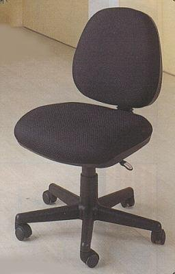 Armless Secretary office task swivel chair on casters