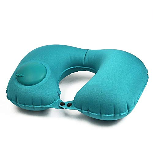 YASSUN Push-Type Portable Inflatable Pillow, U-Shaped Neck Pillow, Automatic Inflatable Camping/Travel Pillow for Travel…