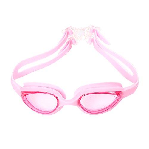 Wapoo Lunettes de natation pour adultes Lunettes de natation avec protection UV, anti-buée et étanche pour hommes, femmes, Creative Boucle Motif.