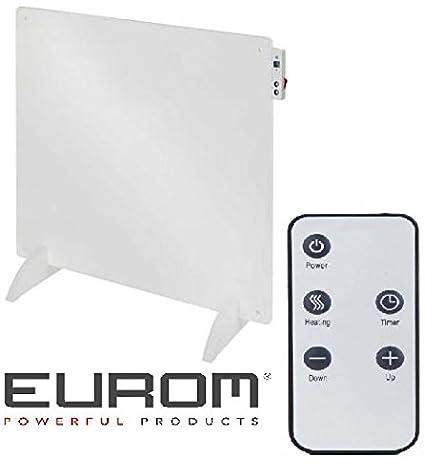 Eurom Radiador plano, convectivo eléctrico y termostato, temporizador y mando a distancia