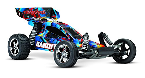 Traxxas 240544 Bandit: 1 10 Scale 2WD Off-Road Buggy with TQ 2.4ghz Radio System - Rock n' Roll