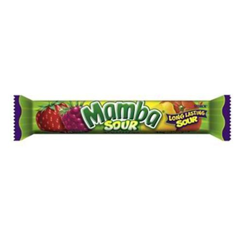 Sour Mamba Fruit Chews Candy Bars 24 Count by The Nutty Fruit House (Mamba Fruit Chews)