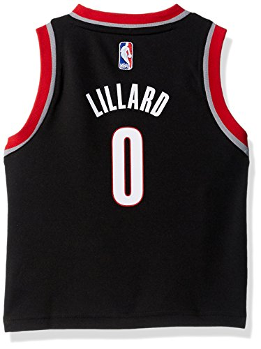 OuterStuff NBA Portland Trail Blazers Children Boys Replica Road Player Jersey, 3T, Black
