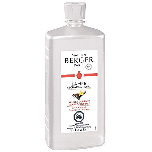 (Vanilla Gourmet | Lampe Berger Fragrance Refill for Home Fragrance Oil Diffuser | Purifying and perfuming Your Home | 33.8 Fluid Ounces - 1 Liter | Made in France)