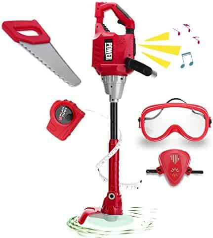Toy Choi's Kids Toy Power Tools Weedeater for Boys, Boys Play Toy Outdoor Lawn Tools Weed Trimmer for Toddlers