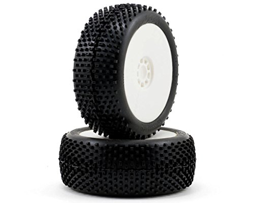 - AKA Products 14004SRW Racing Buggy Crossbrace Soft Evo Wheel Pre-Mounted White Tire, Scale 1:8