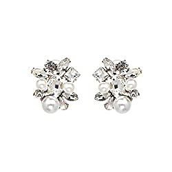 Handmade Crystal Simple Cheap Statement Earrings