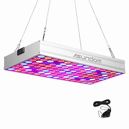 LED Plant Grow Light, Asundom Full Spectrum 100W Pro Aluminum Made Grow Lights with Daisy Chain for Hydroponic Indoor Plants Seeding, Germination & Flowering. Review