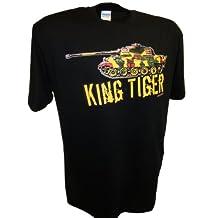 Mens King Tiger 2 Konistiger WW2 German Panzer Tank Tee By Achtung T Shirt LLC