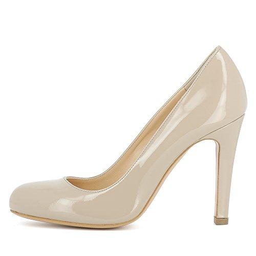 Shoes Escarpins Evita Cristina Beige Femme Cuir Verni Hvqzqdw