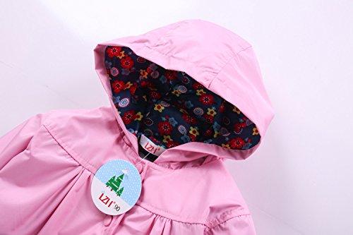 LZH Toddler Girls Raincoat Waterproof Outwear Coat Jacket with Hoodies by LZH (Image #3)