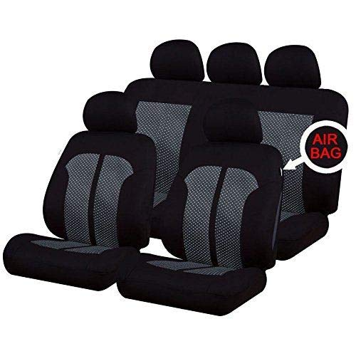 UKB4C Grey /& Black Steering Wheel /& Seat Cover set for Kia Proceed 08-On