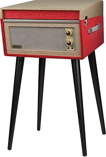 Crosley CR6233D-RE Dansette Bermuda Portable Turntable with Aux-in and Bluetooth, Red by Crosley (Image #7)