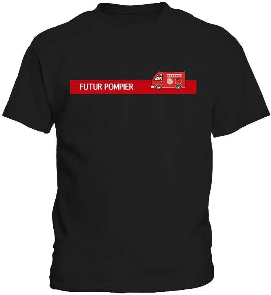 TEEZILY T-Shirt Enfant Futur Pompier