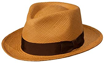 1940s Style Mens Hats  Panama Bogart Fedora Straw Dress Hat $99.00 AT vintagedancer.com