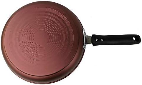 ZPWSNH Poêle en Fonte À Fond Plat, Poêle À Frire Antiadhésive Solide Et Durable, Cuisinière À Induction À Épaississement Omelette for Barbecue Domestique Wok