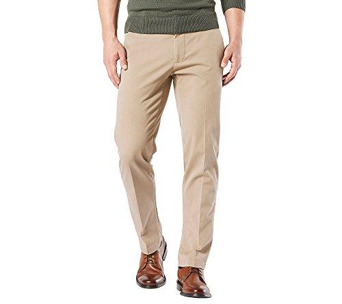 - Dockers Men's Straight Fit Workday Khaki Pants with Smart 360 Flex, Safari Beige (Stretch), 42W x 32L