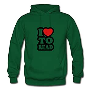 Women I Love To Read Green Customized Cool Regular Hoody Shirts X-large