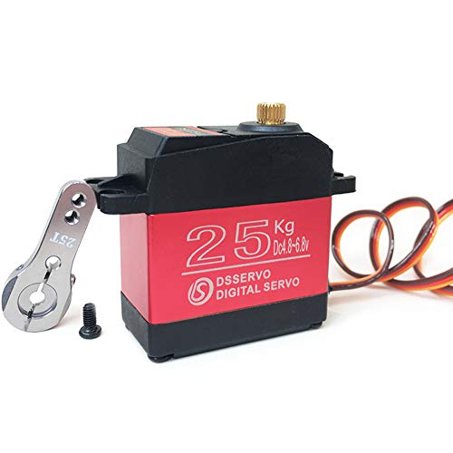 ANNIMOS 25kg RC Digital Servo Large Torque High Speed Full Metal Gear Waterproof 180 Degree Control Angle