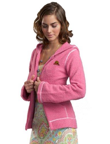 NCAA Cornell University Kashwere U Full-Zip Hoodie (Pink/White, Medium/4-6)
