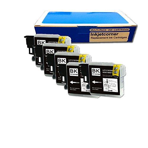 Inkjetcorner 5 NEW BLACK Printer Ink for LC61BK Brother DCP-165C / MFC-250C / MFC-255CW / MFC-290C / MFC-295CN / MFC-385CW / MFC-490CW / MFC-495CW / MFC-585CW / MFC-790CW / MFC-5490CN / MFC-5890CN / MFC-6490CW / MFC-J220 / MFC-J265w / MFC-270w / MFC-J410w