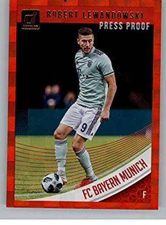 56a382ce238 2018-19 Donruss Press Proof Red Soccer #17 Robert Lewandowski FC Bayern  Munich Official