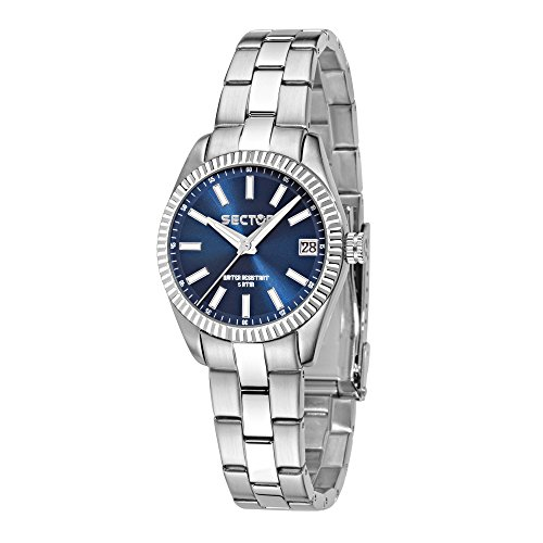 SECTOR Women's 240 Analog-Quartz Sport Watch with Stainless-Steel Strap, Silver, 18 (Model: R3253579517