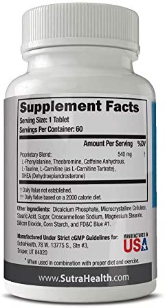 PhenAprin Diet Pills – Best Appetite Suppressant: Weight Loss and Energy Boost for Metabolism – Optimal Fat Burner Supplement; Helps Curb and Control Appetite, Promotes Mood & Brain Function 9
