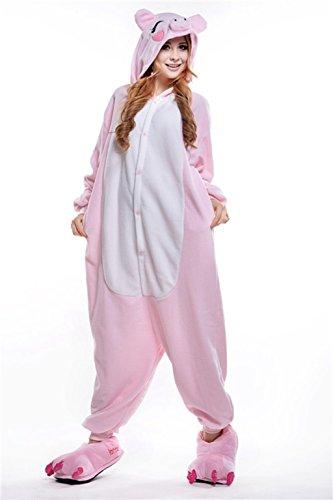 10 Pig Piece (Children's Pajamas Animal Costume Kids Sleeping Wear Kigurumi Pajamas Cosplay (10-11Yrs(fits for height55.1-59