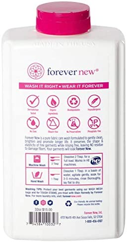 41we Sk0XIL. AC - FOREVER NEW Granular Detergent Powder - Delicate Laundry Care Wash - Original Scented, 32 Oz