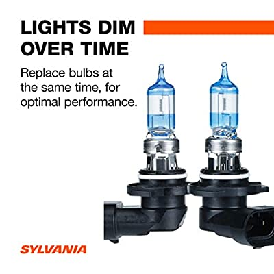 SYLVANIA - 9005 SilverStar Ultra - High Performance Halogen Headlight Bulb, High Beam, Low Beam and Fog Replacement Bulb, Brightest Downroad with Whiter Light, Tri-Band Technology (Contains 2 Bulbs): Automotive