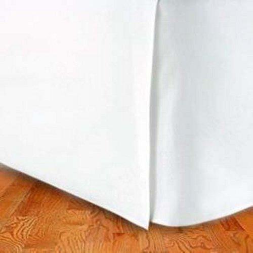 Marrikas ( TM ) 1500クラスマイクロファイバーツインExtra Longベッドスカートソリッドホワイト B00E819XNM