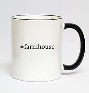 11oz Black Handle Hashtag Coffee Mug - #farmhouse
