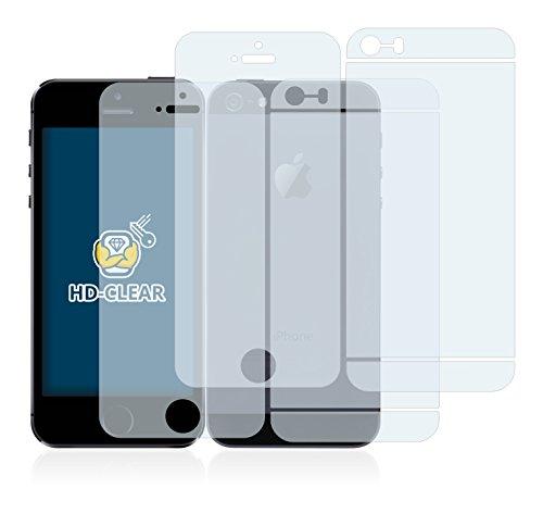 2x BROTECT Pellicola Protettiva Apple iPhone 5S (Anteriore + Posteriore) Schermo Protezione – Trasparente, Anti-Impronte