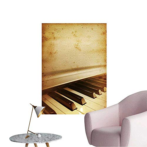 - Wall Stickers for Living Room Old Mouldy Piano Blues or Jazz Background Vinyl Wall Stickers Print,32