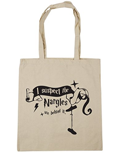 HippoWarehouse 10 It I Quote 42cm x38cm Natural Nargles Beach Bag Behind Tote Gym Are Suspect Shopping litres The xdrq4wYxZ