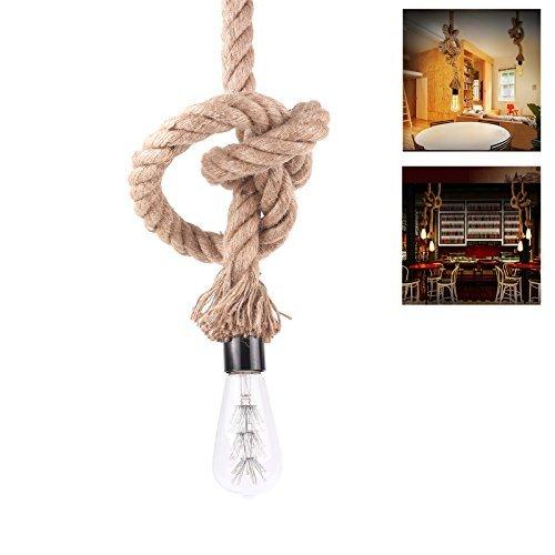 Cuerda CALISH embellecedor para aplique de lámpara de techo Vintage Loft iluminación E27 de llaves de vaso: Amazon.es: Iluminación