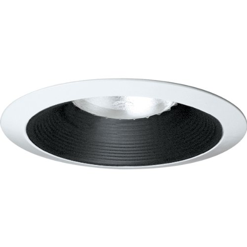 Progress Lighting P8075-31 Long Neck Baffle UL/CUL Listed For Damp Locations 7-3/4-Inch (7.75 Baffle Recessed Trim)