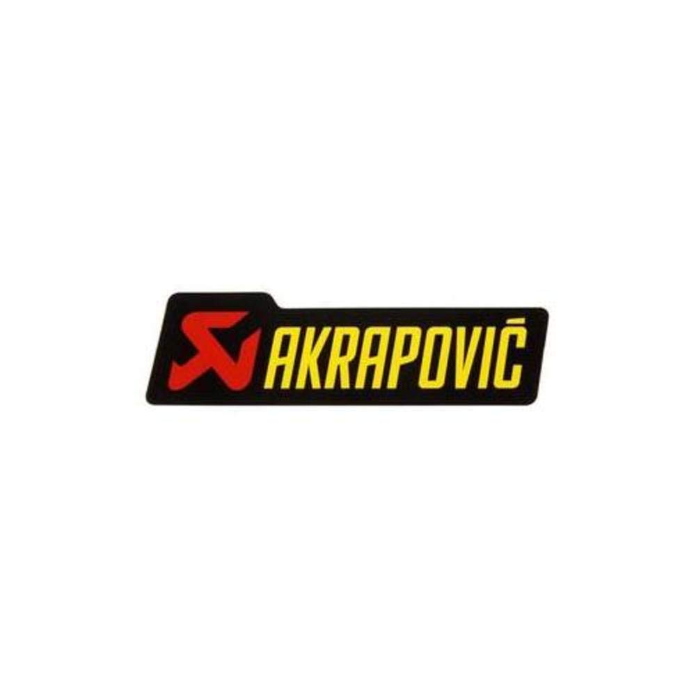 Amazon com akrapovic p hst1al logo sticker 200 x 60mm automotive