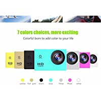 Waterproof Car Driving Recorder Camcorder SJ4000 Full HD 1080P 3MP Diving Bicycle Action Camera 30m Car DVR Sports DV Camcorder 7 Colors(white)