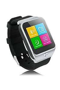 ZGPAX Bluetooth V3.0 Reloj elegante desbloqueado SIM reloj telefono inteligente pulsera sincronizacion Call Musica Recordatorio anti-perdio pantalla tactil capacitiva de la casamata del telefono para IOS Samsung Galaxy S5 Nota 3 HTC uno LG G3V